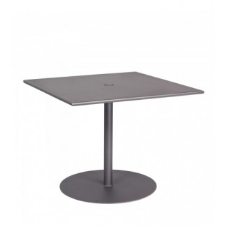 13l3su36 36x36 square Solid Top Restaurant Dining Umbrella Table with Pedestal Base Commercial Wrought Iron